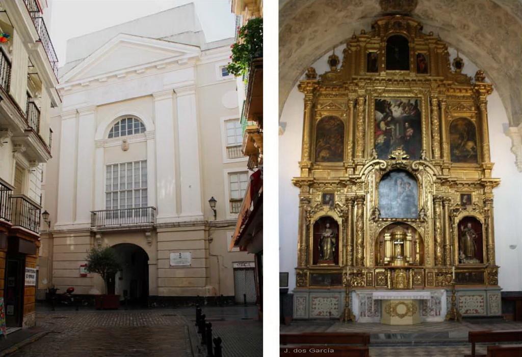 Fachada y retablo de la Capilla del Pópulo-Euskádiz