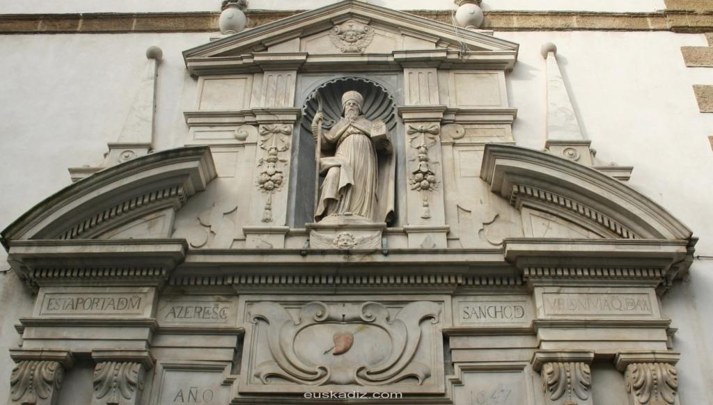 Portada principal de la Iglesia de San Agustín de Cádiz