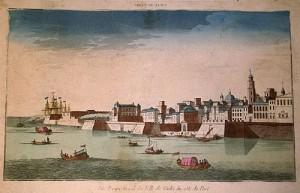 Perspectiva de la Villa de Cádiz. Chereau. 1780.