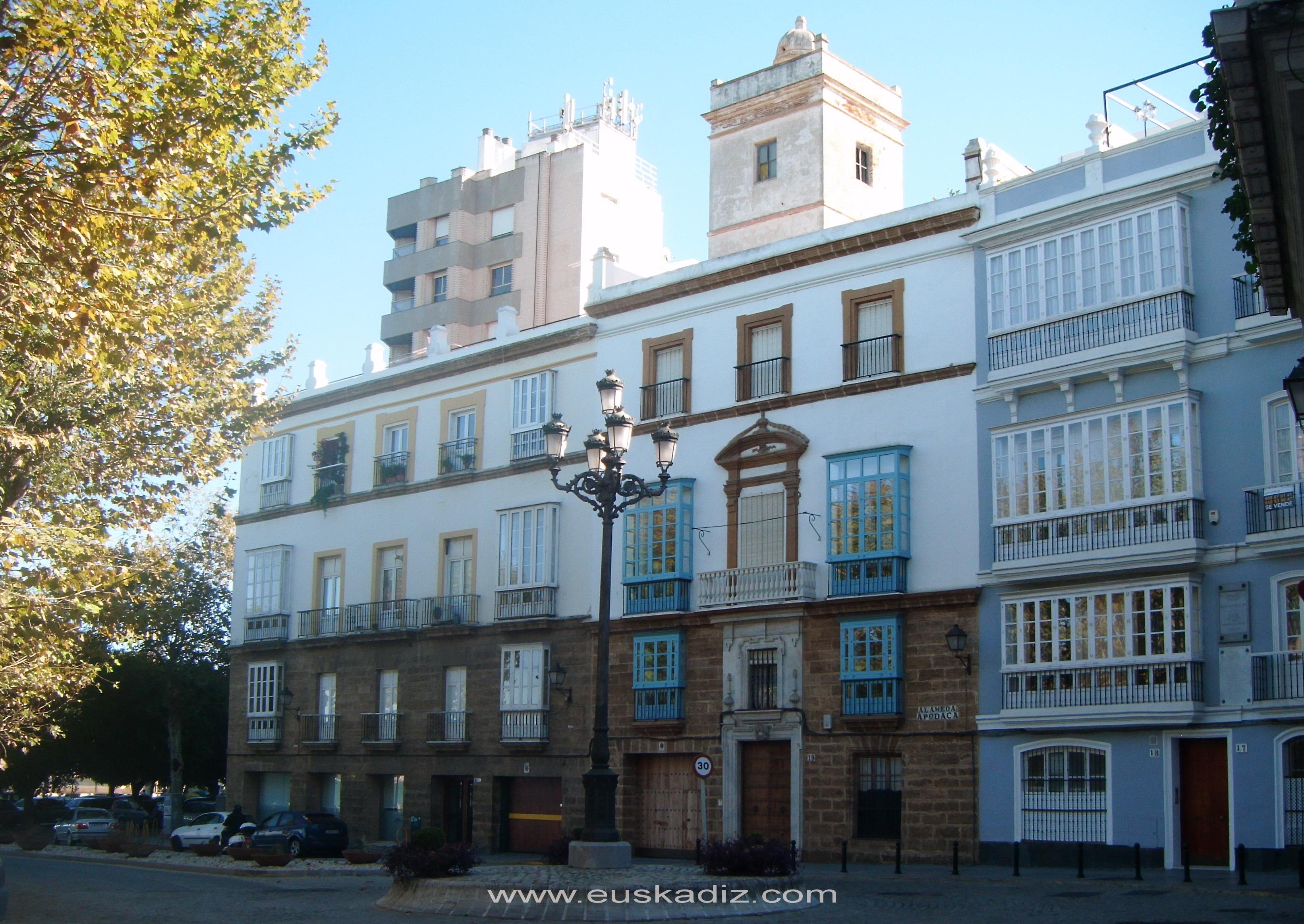 Alameda de Apodaca. Cádiz.