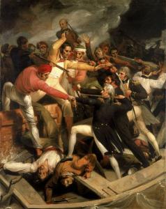 Combate de Nelson con una lancha española en Cádiz en 1797
