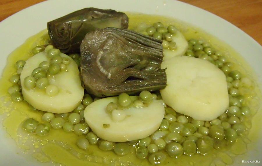 guisantes-papas-alcachofas-euskadiz