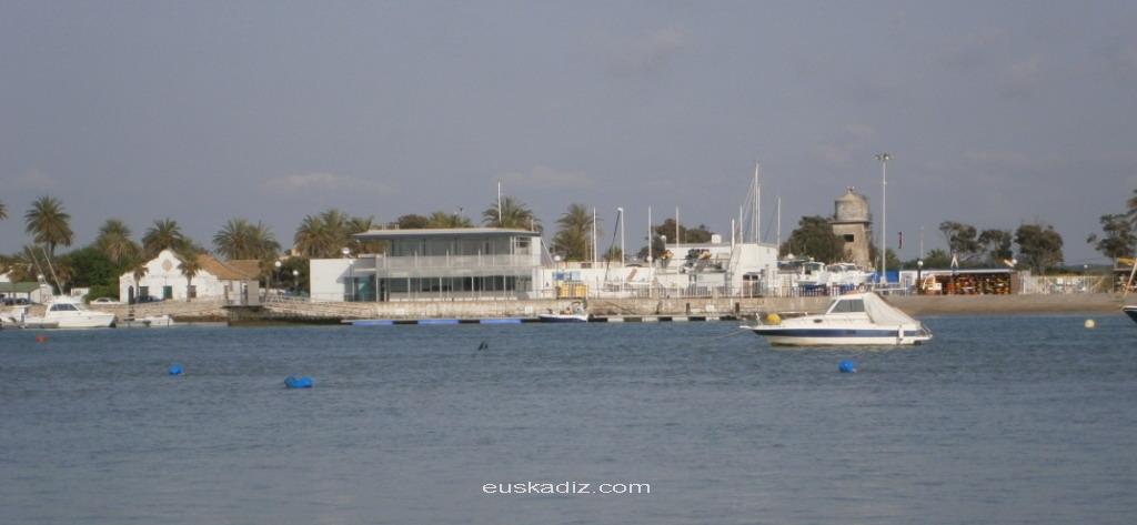 Vista del poblado de Sancti Petri desde la Punta del Boquerón