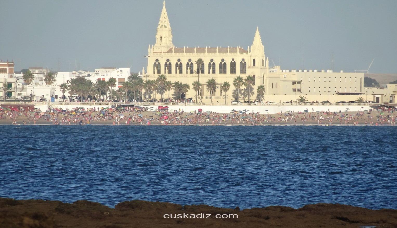Vista del Santuario de Regla desde Salmedina