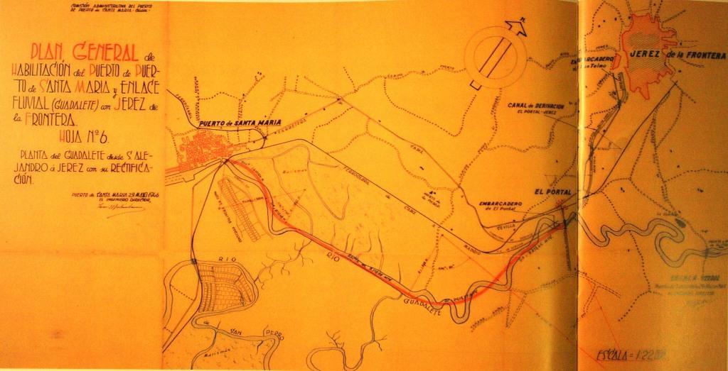 El Proyecto de Machimbarrena de enlace fluvial