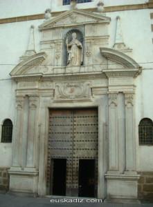 Portada de la Iglesia de San Agustín de Cádiz