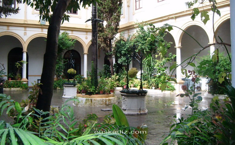 Convento de San Francisco de Cádiz, donde fué enterrado