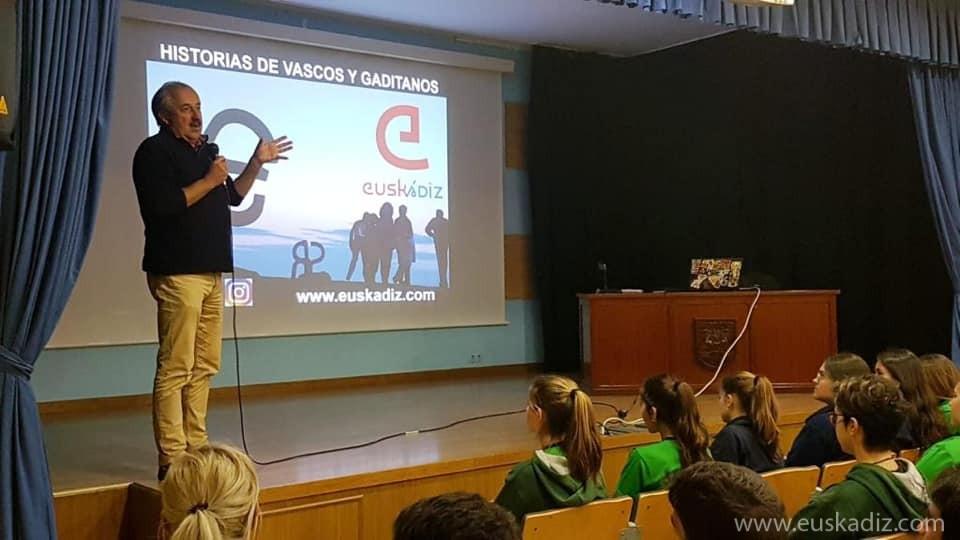 Charla sobre Euskádiz en el Colegio Argantonio de Cádiz