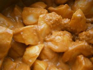 Las patatas mecladas con la crema de lashortalizas-Euskádiz