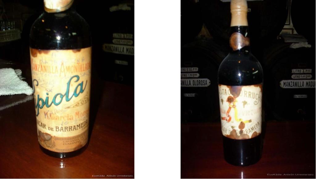 Botella firmada por Karlos Arguiñano y botella bodega Otaolaurruchi-Euskádiz